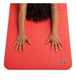 ECOPRO DIAMOND 6mm červený pomaranč - kaučuková joga podložka