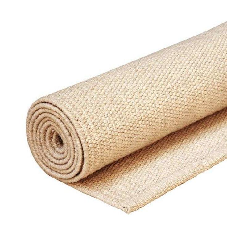 Bavlnený koberec na jogu ECRU - béžový